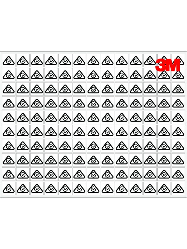 3M White RCM Labels 10x10mm